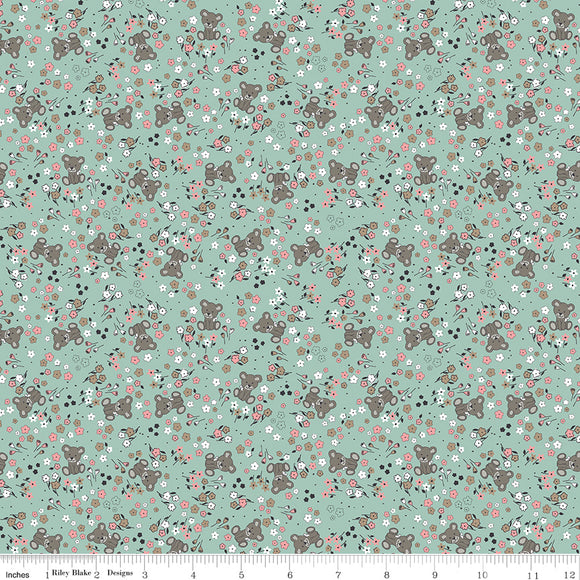 Riley Blake Sleep Tight--Garden Mint Sparkle<br><STRONG>$9.96/YARD</strong><br>$2.49/Quarter Yard