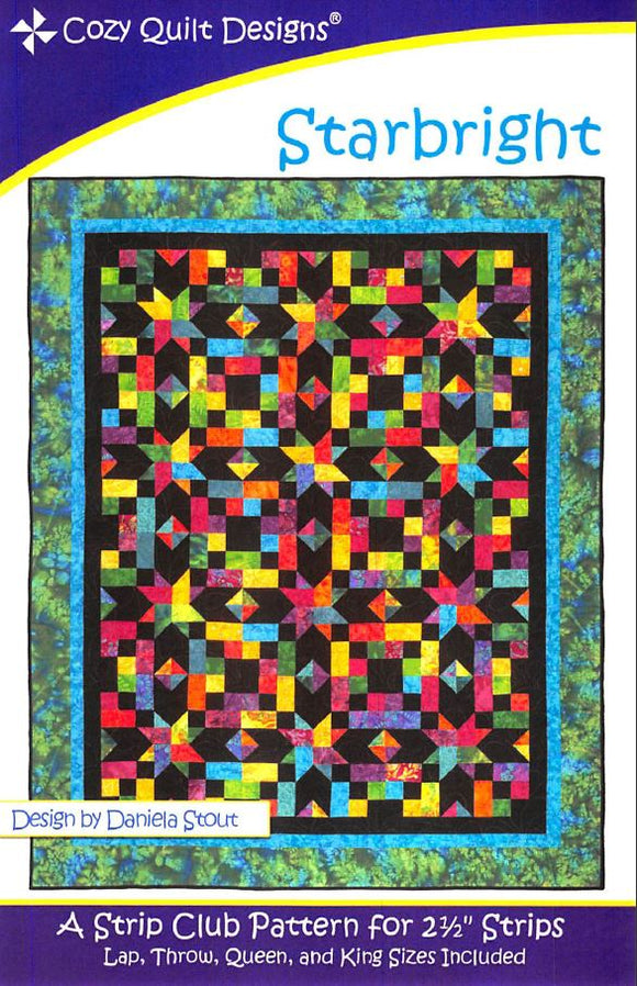 Cozy Quilt Designs Starbright Pattern <br> Click for fabric requirements