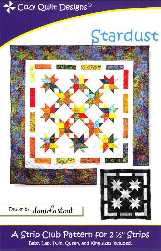 Cozy Quilt Designs Stardust Pattern <br>  Click for fabric requirements