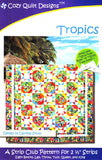 Cozy Quilt Designs Tropics Pattern <br> Click for fabric requirements
