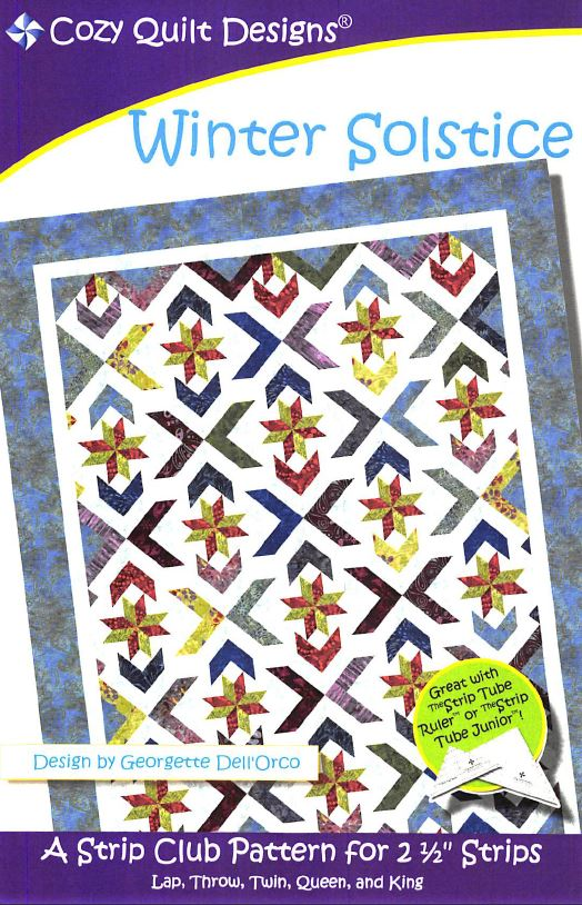 Cozy Quilt Designs Winter Solstice Pattern <br> Click for fabric requirements