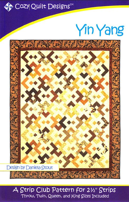 Cozy Quilt Designs Yin Yang Pattern <br> Click for fabric requirements