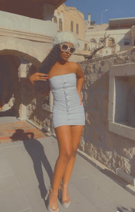 Bianca white denim dress