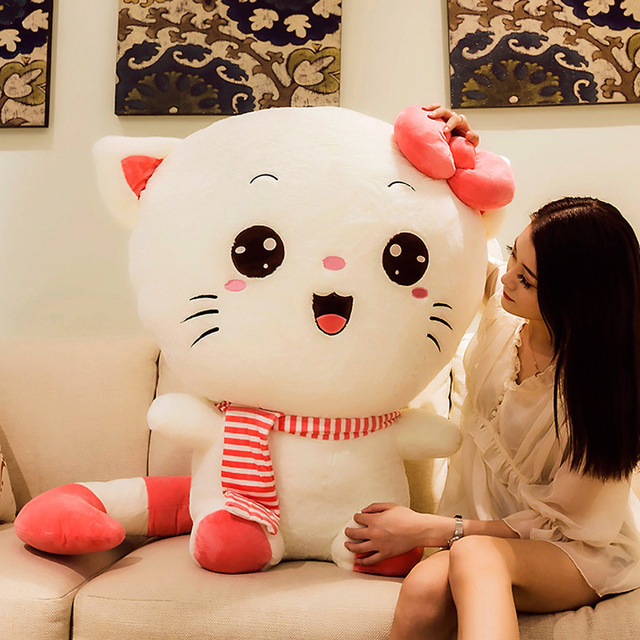 Beautily Oversized Head Cat Toy