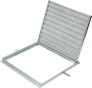 450mm x 450mm  Galvanized Hinged Frame & Grate