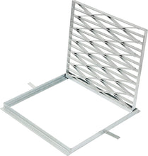 Load image into Gallery viewer, 450mm x 450mm  Galvanized Hinged Frame & Grate