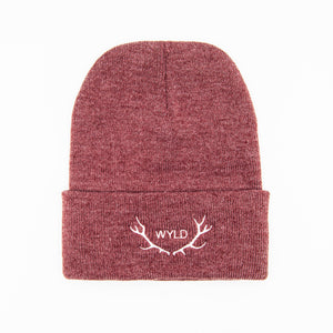 Heather Red Beanie with no shadow