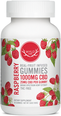 Raspberry 1000mg Gummies