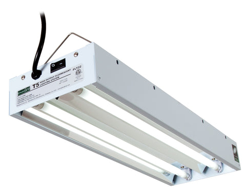 T5 EnviroGro 2Ft 2 Tube Fixture w/Bulbs