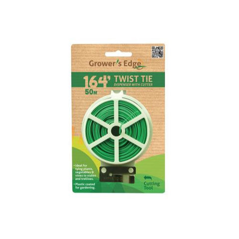 Grower's Edge Twist Tie Dispenser w/ Cutter - 164 ft (6/Cs)