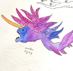 Watercolor dragon fakemon