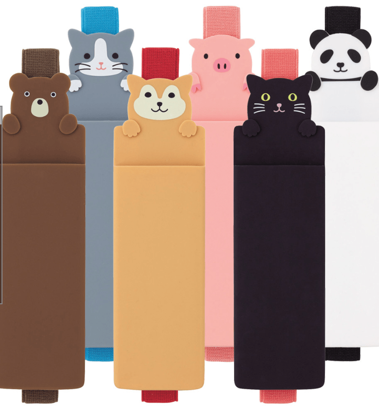 Lihit Lab animal book bands.  Bear, cat, dog, pig and panda.