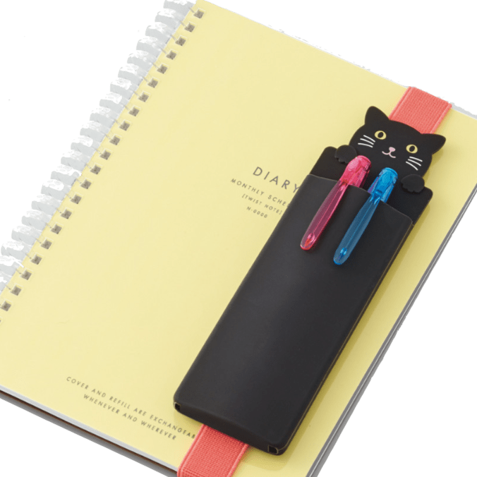 Lihit Lab black cat book band pencil case
