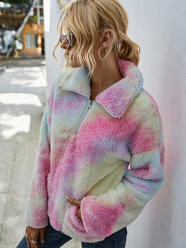 Noumode sweatshirt en teddy bear tie and dye mode femme