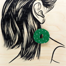 Lataa kuva Galleria-katseluun, OUNNOS earrings, green - lavender