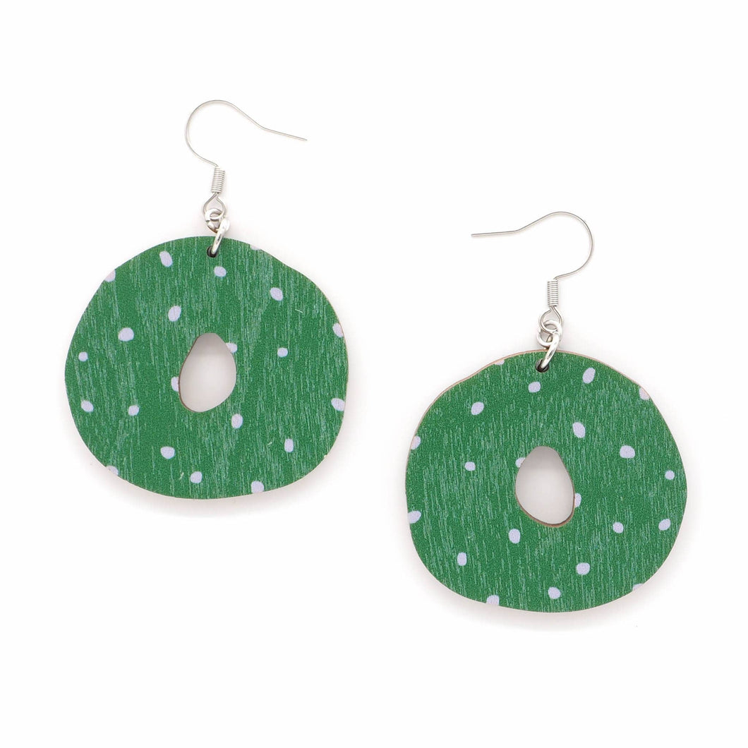 OUNNOS earrings, green - lavender