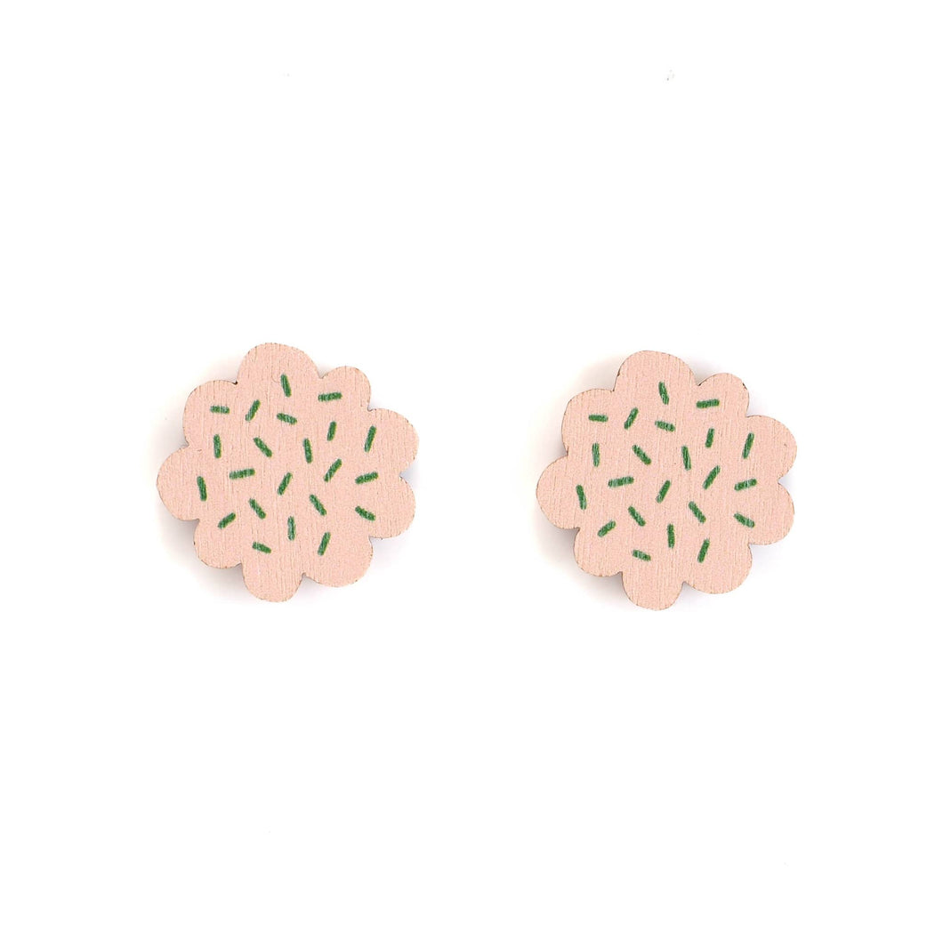 PIPAR MINI earrings, pink - green