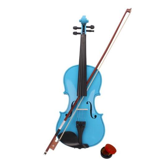 4/4 Acoustic Violin Case Bow Rosin Sky Blue