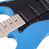 ST Stylish Electric Guitar with Black Pickguard Sky Blue