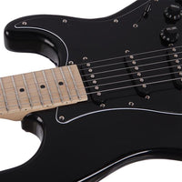 ST Stylish Electric Guitar with Black Pickguard Black