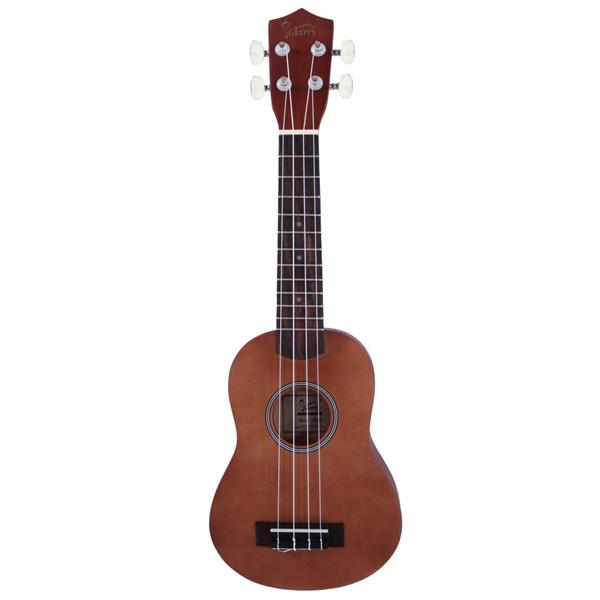 "Glarry UK101 21"" Pure Color Rosewood Fingerboard Basswood Soprano Ukulele with Bag Brown"