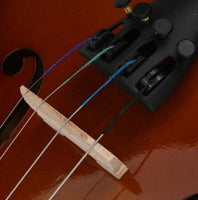 New 1/2 Acoustic Violin Case Bow Rosin Natural