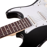 Rosewood Fingerboard Electric Guitar Black w/ White