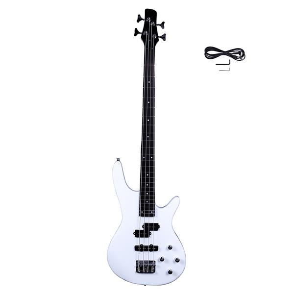 Exquisite Stylish IB Bass with Power Line and Wrench Tool White