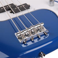 Exquisite Burning Fire Style Electric Bass Guitar Blue