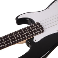 Exquisite Burning Fire Style Electric Bass Guitar Black