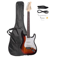 Glarry GST Rosewood Fingerboard Electric GuitarBagShoulder Strap Pick Whammy Bar Cord Wrench Tool Sunset Color