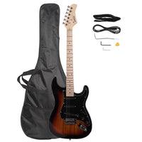 Glarry GST Stylish Electric Guitar Kit with Black Pickguard Sunset Color