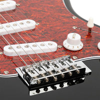 ST3 Stylish Pearl-shaped Pickguard Electric Guitar Black & Red