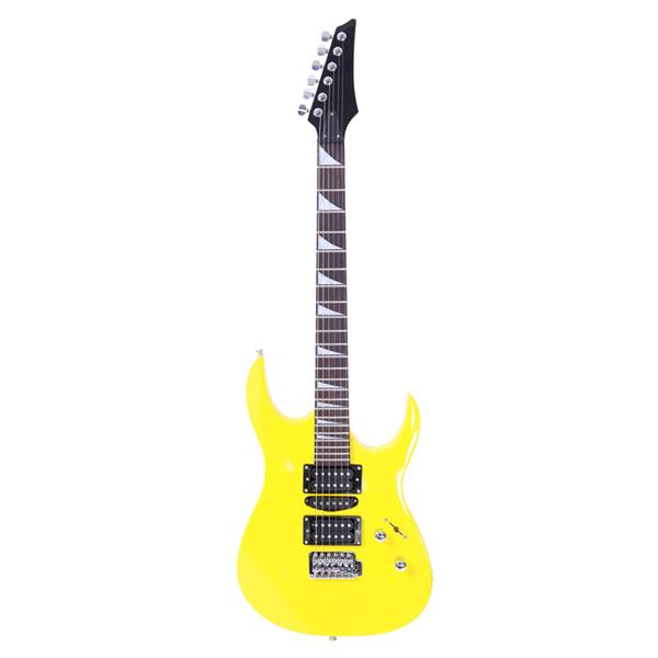 Novice Entry Level 170 Electric Guitar HSH Pickup Bag Strap Paddle Rocker Cable Wrench Tool Yellow
