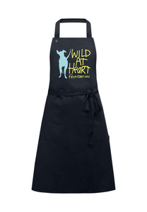Adult Recycled Unisex Apron w/ Pockets- Black