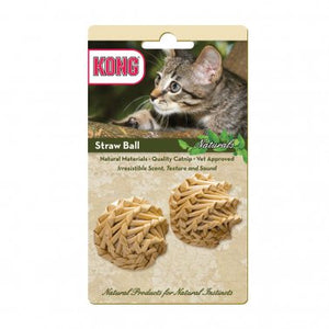 KONG® Naturals Straw Ball Cat Toy 2 Pack