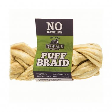 Redbarn® Puff Braid Chewy Dog Treat Small/Medium