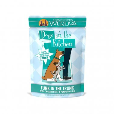 Weruva Dogs in the Kitchen, Funk in the Trunk with Chicken Breast & Pumpkin Au Jus Dog Food, 2.8oz Pouch