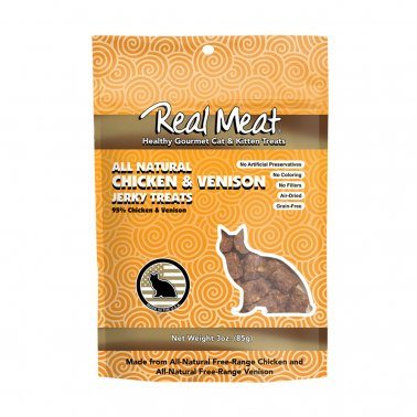 Real Meat® Chicken Venison Cat Treat 3 Oz