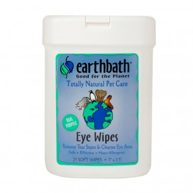 Earthbath® Eye Wipes for Cat & Dog 25 Count