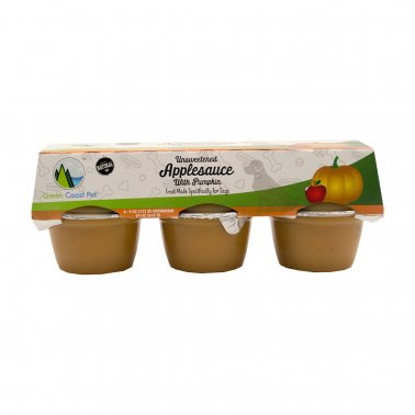 Green Coast Pet™ Unsweetened Applesauce with Pumpkin Dog Treat 6 X 4 Oz