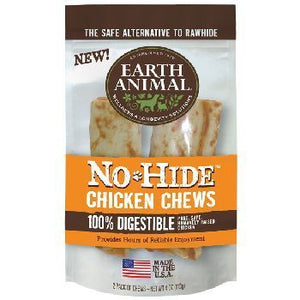"Earth Animal Dog Treat No Hide Chicken Chews 4"" 2 Pack"