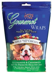 LOVING PETS PRODUCTS APPLE & CHICKEN WRAPS 8 OZ