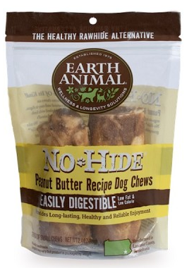 Earth Animal No-Hide Peanut Butter Chews Dog Treats, Small, 2-Pack