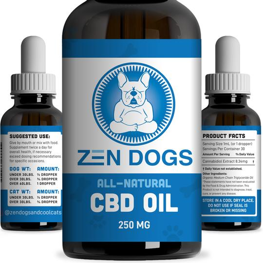 Zen Dog Organic CBD oil 250mg