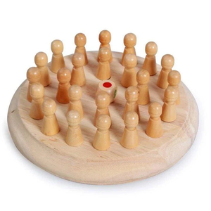SingLair™ Wooden Memory Match Stick Chess