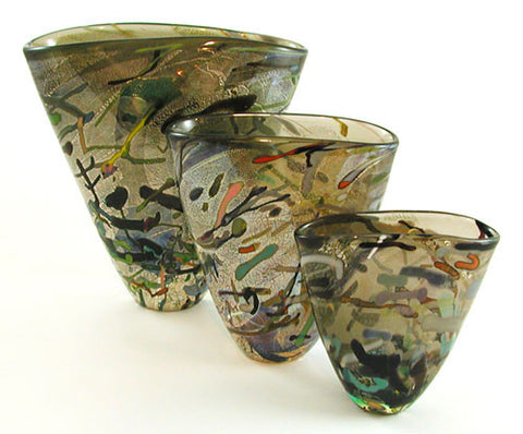 Pippa Glass Vase Bronze