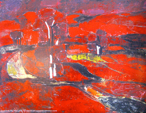Landscape in Red, 1987