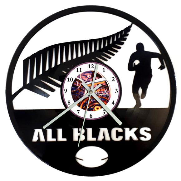 All Blacks Clock