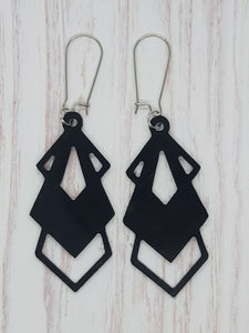 Earrings - Geometric Half Drop